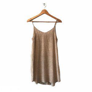 Aritzia Wilfred Tan Silk Slip Camisole Mini Dress